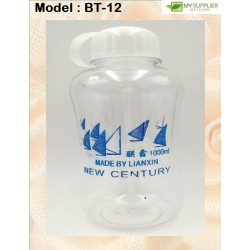 1000ml Transparent Drinking Bottle W8.5cm*H20cm