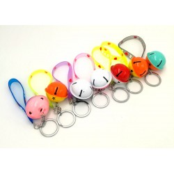 4cm bell + love words key chain