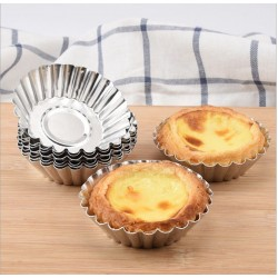 6pcs egg tarts mold cake cup jelly mold 7cm