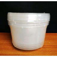 RT-300R 5pcs transparence round container W8.5cm*H6.5cm
